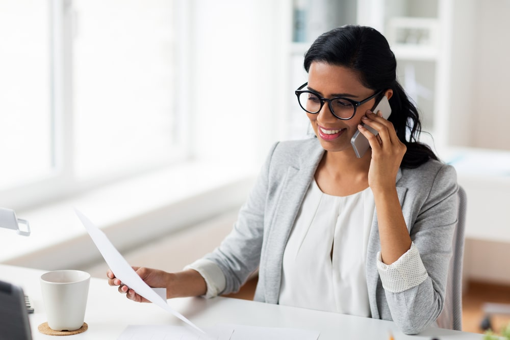 virtual tax preparation and filing | woman smiling